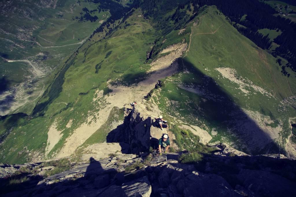 Klettersteig Eggstock bei Recherche zu Barfuß auf Wolken von Hannah Siebern