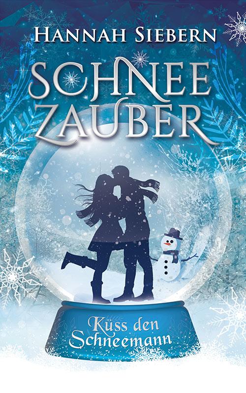 verliebtes Paar im Winter in einer Winterlandschaft in einer Schneekugel