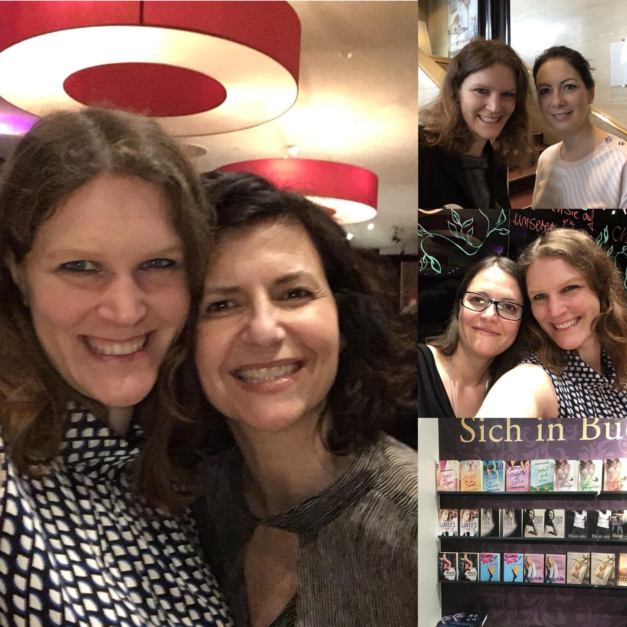 Autorin Hannah Siebern mit mehreren anderen Autorinnen auf der Buchmesse Leipzig 2018